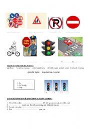English Worksheet:  Safety &  Traffic  Rules