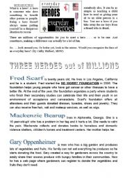 English Worksheet: Heroes Part 2 TEXT