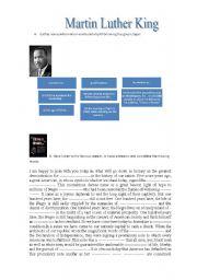 English Worksheet: I have a dream speech