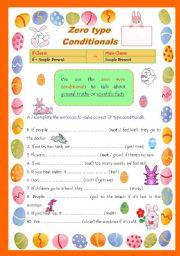 Zero type Conditionals, presentation and practice