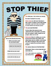 English Worksheets: stop thief