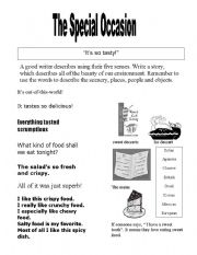 English Worksheets: The Special Occasion
