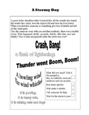 English Worksheets: A Stormy Day