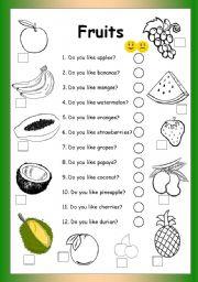 Fruits - Do you like...?