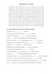 English worksheet: Wordsearch Twilight Novels