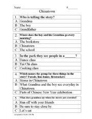 English Worksheets: Chinatown