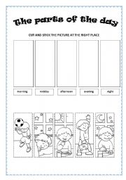 English Worksheet: The part of the day