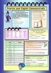 English Worksheets: Practice your English