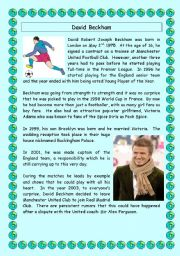 David Beckham - Comprehension