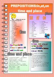 Prepositions in,on,at