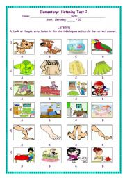 English Worksheet: Listening Test 2