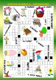 EASTER SYMBOLS CROSSWORD + KEY