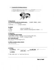English Worksheets: different skills� exersise