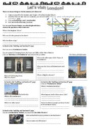 English Worksheets: London Webquest