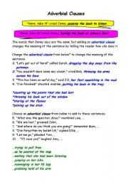 Adverb Phrases and Clauses submited images.