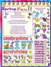 English Worksheet: Spring fun!!
