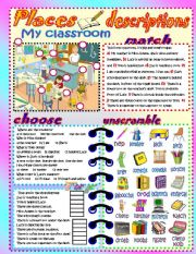 English Worksheets: My classroom!