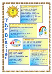 English Worksheets: The Beatles. Here comes the sun. (song)
