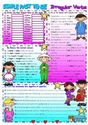 English Worksheet: PAST SIMPLE / IRREGULAR VERBS (+B&W)