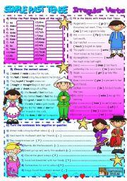 English Worksheet: PAST SIMPLE / IRREGULAR VERBS (+B&W)
