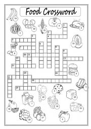 Food Crossword Puzzle
