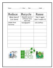 Worksheet Recycling Worksheets Pdf intermediate esl worksheets reduce reuse and recycle english worksheet recycle