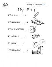 my school bag worksheet by yusriza english worksheet my school bag