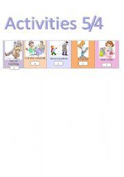 English Worksheets: Activities 5/4
