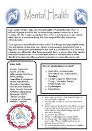 Mental Health Worksheet