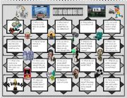 English Worksheet: cinema discussion boardgame