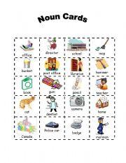 English Worksheets: Sorting Nouns