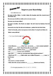 English worksheet: Grammar Dots