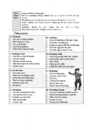 English Worksheets: Mime activity