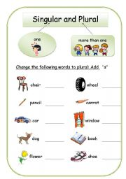 math worksheet : english teaching worksheets singular and plural : Plural Worksheets For Kindergarten