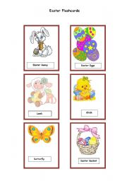English Worksheet: Easter Flashcards 1/2