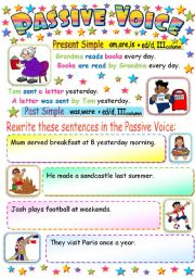 PASSIVE VOICE (PRESENT AND PAST SIMPLE
