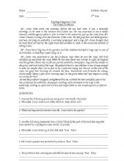 English Worksheets: The Funny Professor