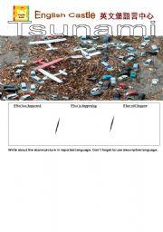 English Worksheet: Tsunami Writing Exercise