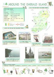 English Worksheets: AROUND  THE  EMERALD  ISLAND