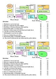 English Worksheet: Giving Direction quiz