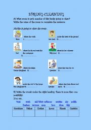 English Worksheet: SPRIN CLEANING