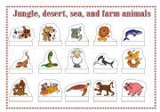English Worksheets: Animals - cut and glue 1