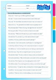 English Worksheet: Reported speech. Sentences, questions and orders.