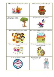 English Worksheets: Used to do smth about Childhood  speaking cards set 1