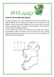 ESL kids worksheets: IRELAND