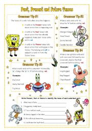 ESL worksheets for beginners: Past, Present and Future Tenses