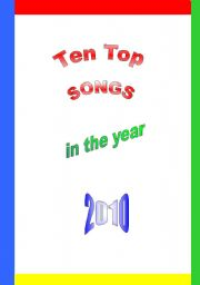 English Worksheet: Ten Top Songs in 2010