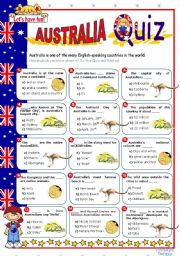 English Worksheet: Australia  Quiz
