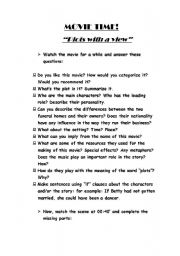 English Worksheets: Movie Time