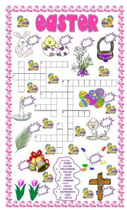 English Worksheets: Easter puzzle & number the pictures